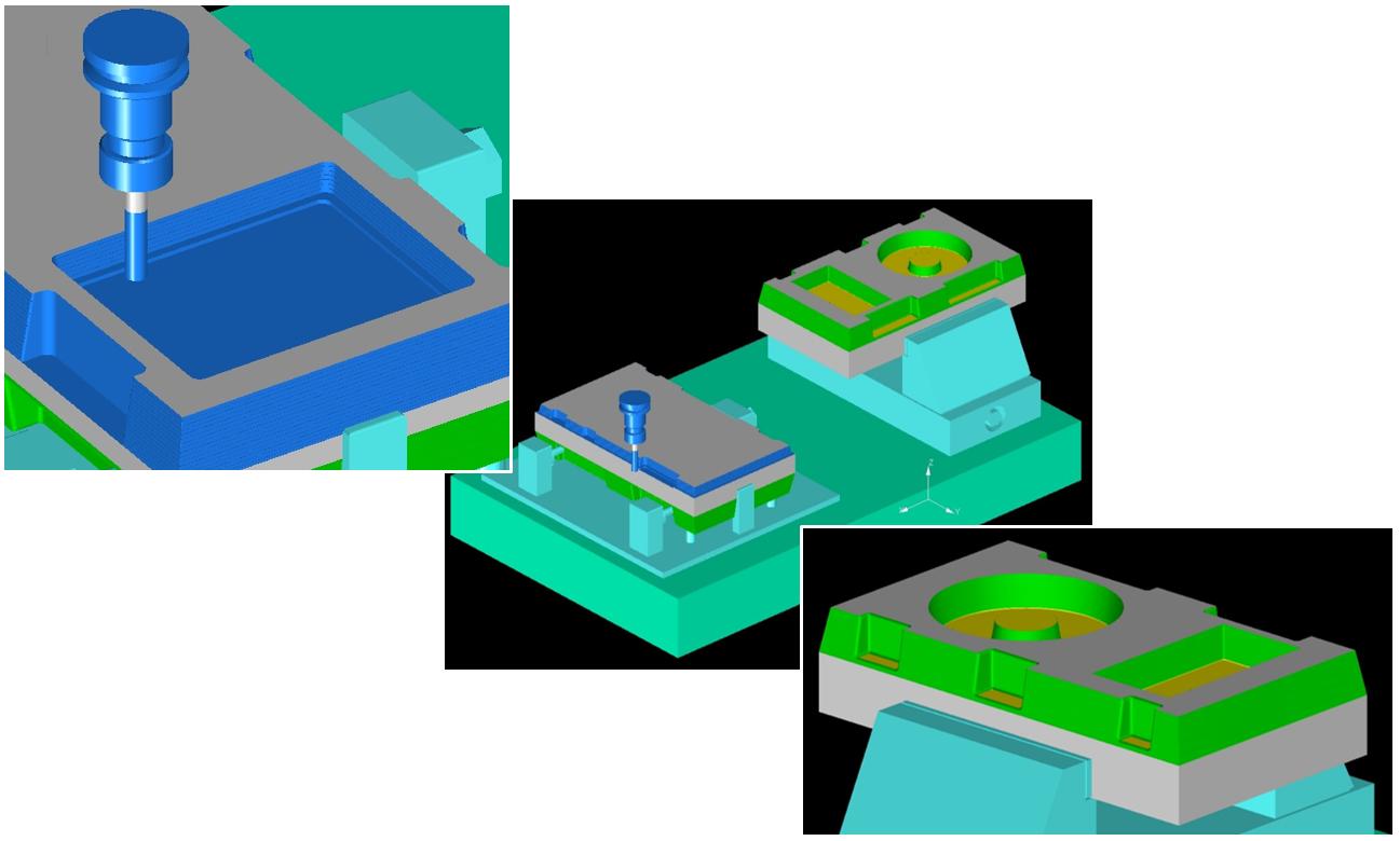 3軸マシニングセンタシミュレーターNCVIEW MC3での段取り替え